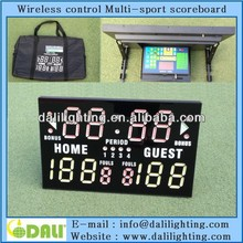 electric scoreboard scores Basketball, Wrestling, Volleyball and more,Portable Multisport electronic digital scoreboard