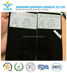 double coated mirror black with clear color powder coating