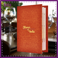 A4 and A5 restaurant menu cover,faux leather hotel menu