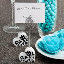 Damask Heart Design Place Card Holders