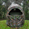 Camo Two Man Shooting Double Hunting Chair Blind