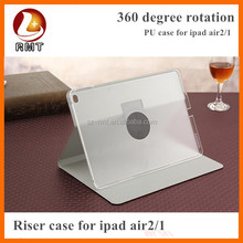 Rotating Swivel Leather Case for iPad air with 360 Degree rotation and Multi-angle stand function