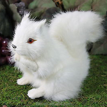 handmade best selling christmas decor craft new design plush white squirrel