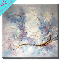 Handmade abstract paintings wall art for hotel restaurant