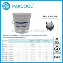 ROSH Conductividad térmica elástico calafateado sellador encapsulante con fuente de alimentación