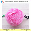 Portable foldable roll-up shopping bag,resuable pink foldinggirls bag