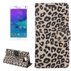 2015 new product leopard pattern leather phone case for Samsung note 5