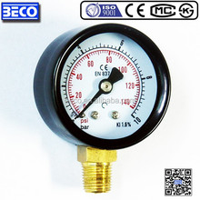 Bottom mounting wika bourdon tube pressure gauge