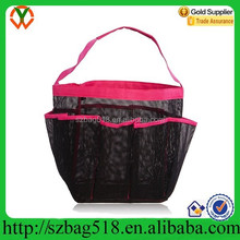 Portable toiletry bag tote mesh beach bag