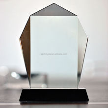 Hot selling rush glass plaque trophy crystal glass awards wholesale crystal