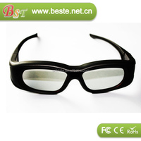 2015 hot selling 3d TV active shutter bluetooth 3d glasses