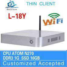 Run Linux/Ubuntu/window 7 wintel mini pc pc mini mini desktop 2G RAM 32G SSD L18Y N270 2G RAM 32G SSD
