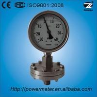 100mm sealed diaphragm pressure gauge manometer