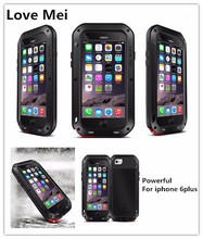 Three proofing mobile phone case Love Mei brand waterproof case for iphone 6plus stright style