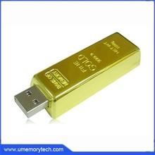 Promotional item usb gold bar shaped promotional usb stick wholesale cheap pen drive
