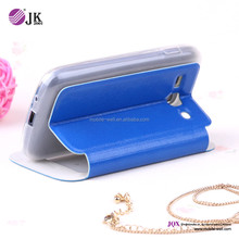 PC+ leather flip case for samsung galaxy ace 3 s7270 with holster stand design blue color
