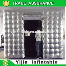 special inflatable photobooth tent style silver rental photo booth