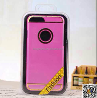 new style plating circle metal hard cell phone case for iPhone6