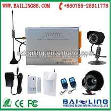 More function high quality new design 2G or 3G alarm system with camera&antenna
