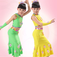 Children Peacock dance costumes children clothing girls Dai ethnic dance competition clothes