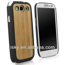 New Arrival Genuine Bamboo Wood Case Cover for Samsung Galaxy S3 with Durable Plastic Edges with Smooth Matte Finish B