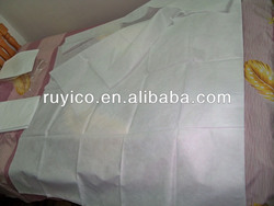 disposable nonwoven bed sheet+bed cover with elastic+pillow case for hotel or hospital use