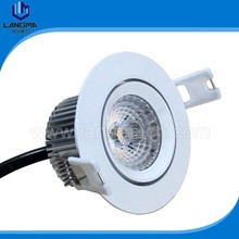 6000k cold white rotatable 6w COB LED 60 degree angle downlight, 120volts downlight