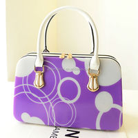 pvc material fashion shoulder bag in hangbags