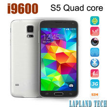 5.1 inch 960*640px MTK6582 quad core Android 4.4 OS wifi bluetooth gps wcdma 3g dual camera mobile phone i9600 S5