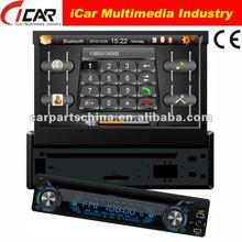(iCar-8300)1 din 7 inch Detachable panel built in gps Ipod function bluetooth tv TMC car radio tv dvd
