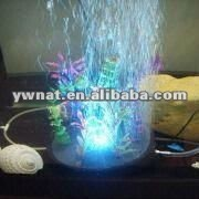 Aquarium air bubble stone for fish With LED