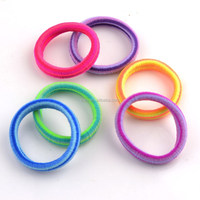 Colorful soft nylon elastic hairbands for baby kids
