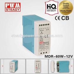 MDR-60-12 60w 12v 5A Industrial DIN Rail switch power supply,12vdc power supply