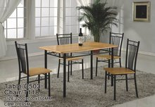 2015 New Design Dining Table and Chair natural oak dining table and chair set