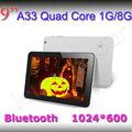 Tablet pc chinês 9 polegadas gps quad core comprimido retina 4.4 android mid