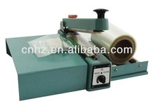 industrial plastic bag sealer with cutting and tray