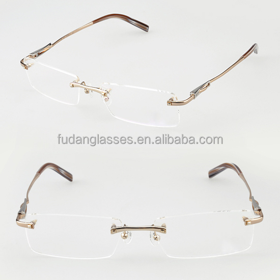 Rimless Eyeglass Frames 2015 : French New Model Eyewear Rimless Eyeglasses Frame 2015 ...