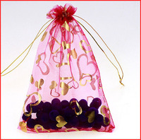 Alibaba china hotsell snowflake organza gift bag with drawstring low wholesale price