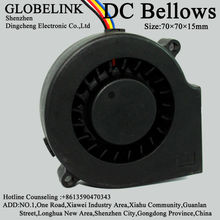 Low Noise 70mm * 15mm 7015 24V DC Fan Blower 2.75 Inch Brushless DC Blower Cooling Fan