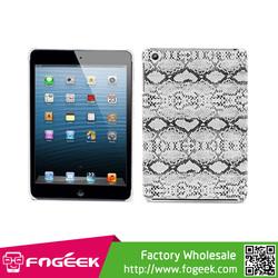 Ultra Slim Snake Texture Design Plastic Protector Skin Case for iPad Mini