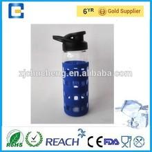 Bpa de encargo libre de pared simple cristal deportes de beber botella de agua botella de venta al por mayor