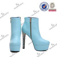 hot sale genuine leather crotch boots