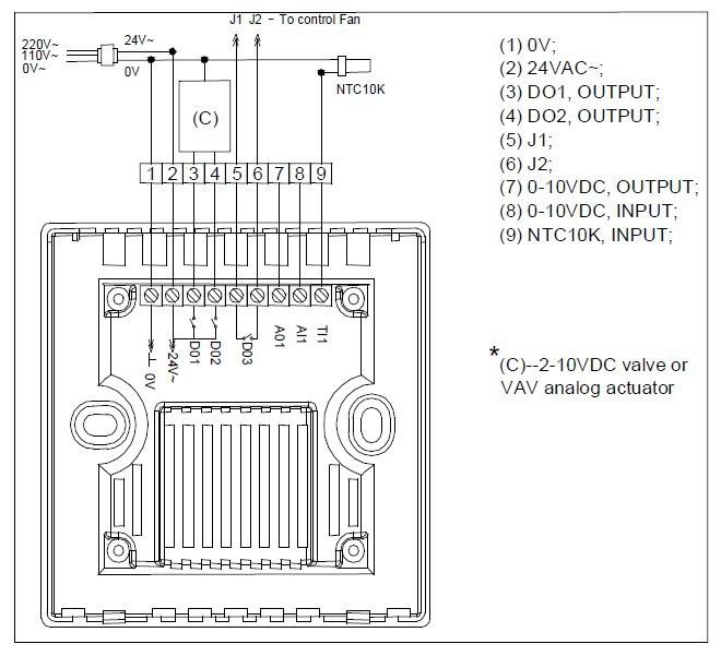 damper actuator wiring diagram  damper  get free image