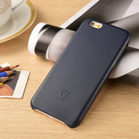Dark Blue Leather Hard Back Cover Case For iPhone 6 , For iPhone 6 Smart phone Case, PU Smartphone Case For iphone