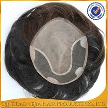Hot sale indian remy human hair invisible thin skin toupee