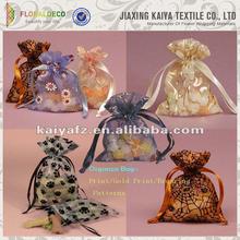 China manufacture pretty jacuard colorful design birthday organza bag