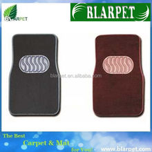 Contemporary branded clear car mat