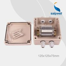 Saip IP65 ABS Customize abs din rail plc terminal block enclosure