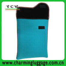 blue color china factory neoprene laptop sleeve without zipper
