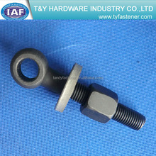 Black Class8.8 Big Head Eye Bolt With pin, washer and nut